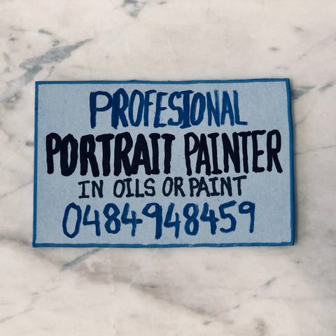 Lucas Grogan 'Professional Portrait Painter' business card