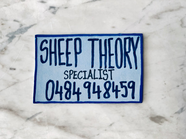 Lucas Grogan 'Sheep Theory' business card
