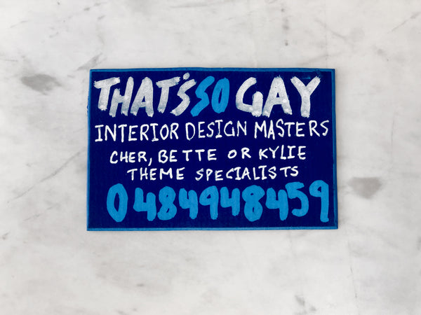 Lucas Grogan 'That's So Gay' business card