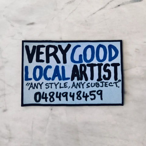 Lucas Grogan 'Very Good Local Artist' business card