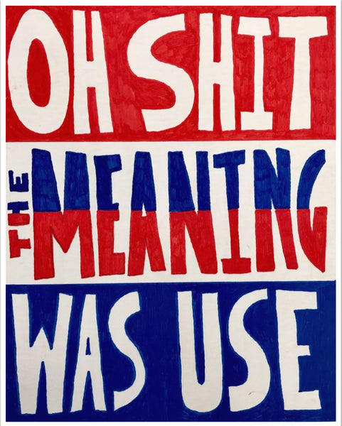 Lucas Grogan 'Oh Shit, the Meaning Was Use'