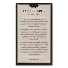 Richard Lewer 'Tarot cards' with signed edition card