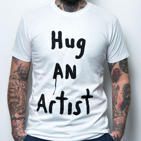 Richard Lewer 'Hug An Artist' t-shirt