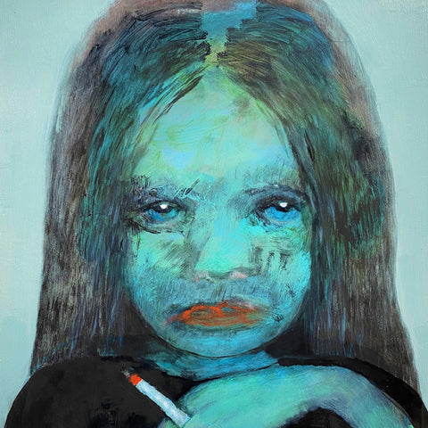 Sally Bourke 'The Smoker' print