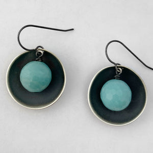 Amazonite cup earrings
