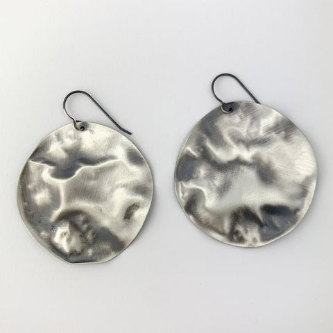 Melted Disc Earrings