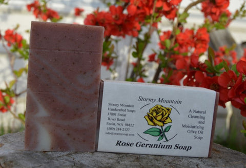 ROSE GERANIUM SOAP (Temporarily out of stock)