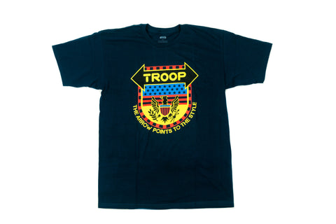 TROOP Arrow Points Crest T-Shirt Navy