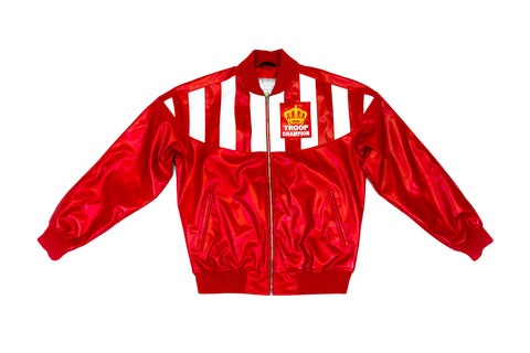 Troop Champion Leather Jacket Red/White
