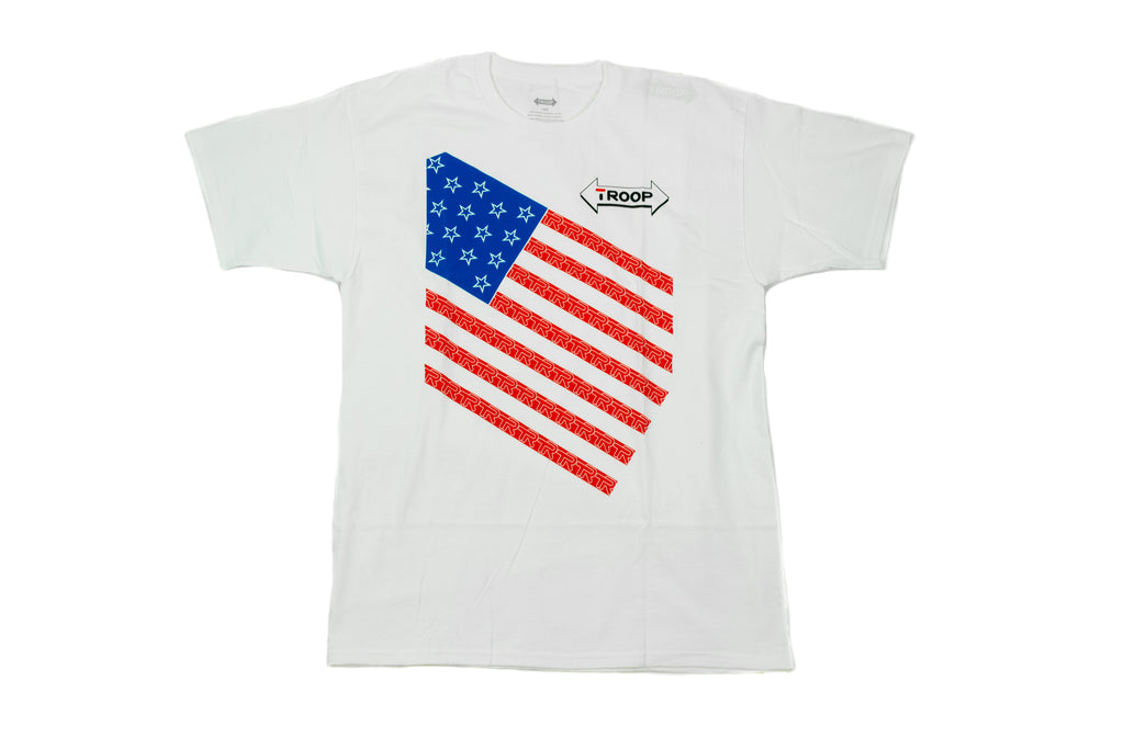 TROOP Stars and Stripes T-Shirt White