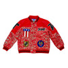 Troop Premium 7/11 Red Leather Jacket Red
