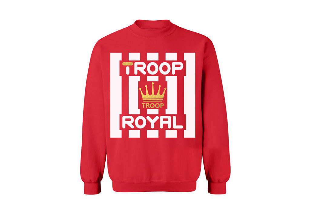 TROOP Crown Royal Crew Red/White