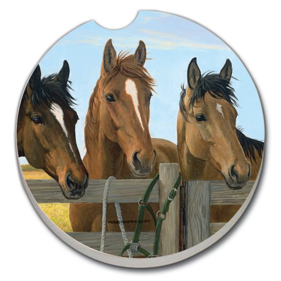 Horse Trio - Car Coaster