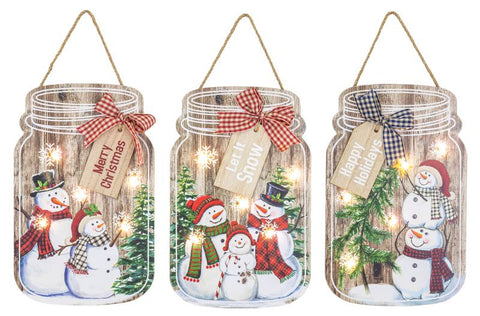 Blizzard Light-Up Small Jar Hanger