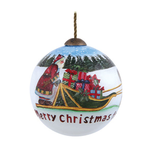 Merry Christmas From Alaska Hand Painted Ornament