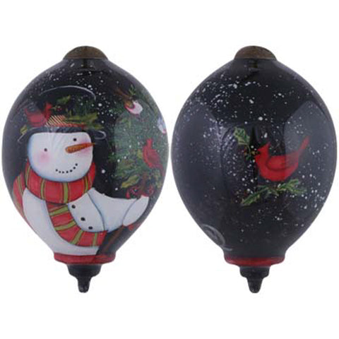 Birds Of A Feather Celebrate Together Hand Painted Ornament