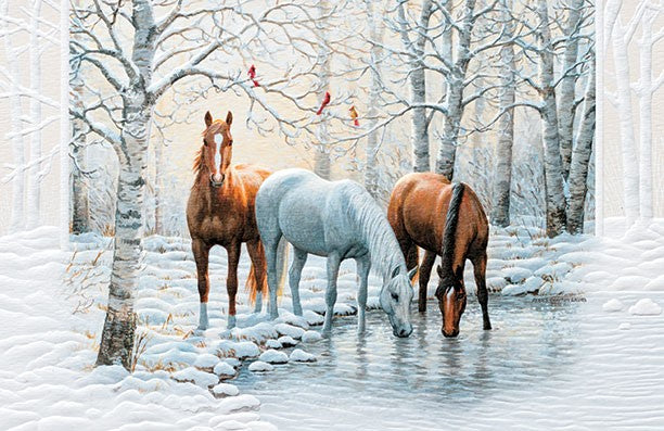 frosty sunshine deluxe christmas cards equine country gifts - Deluxe Christmas Cards