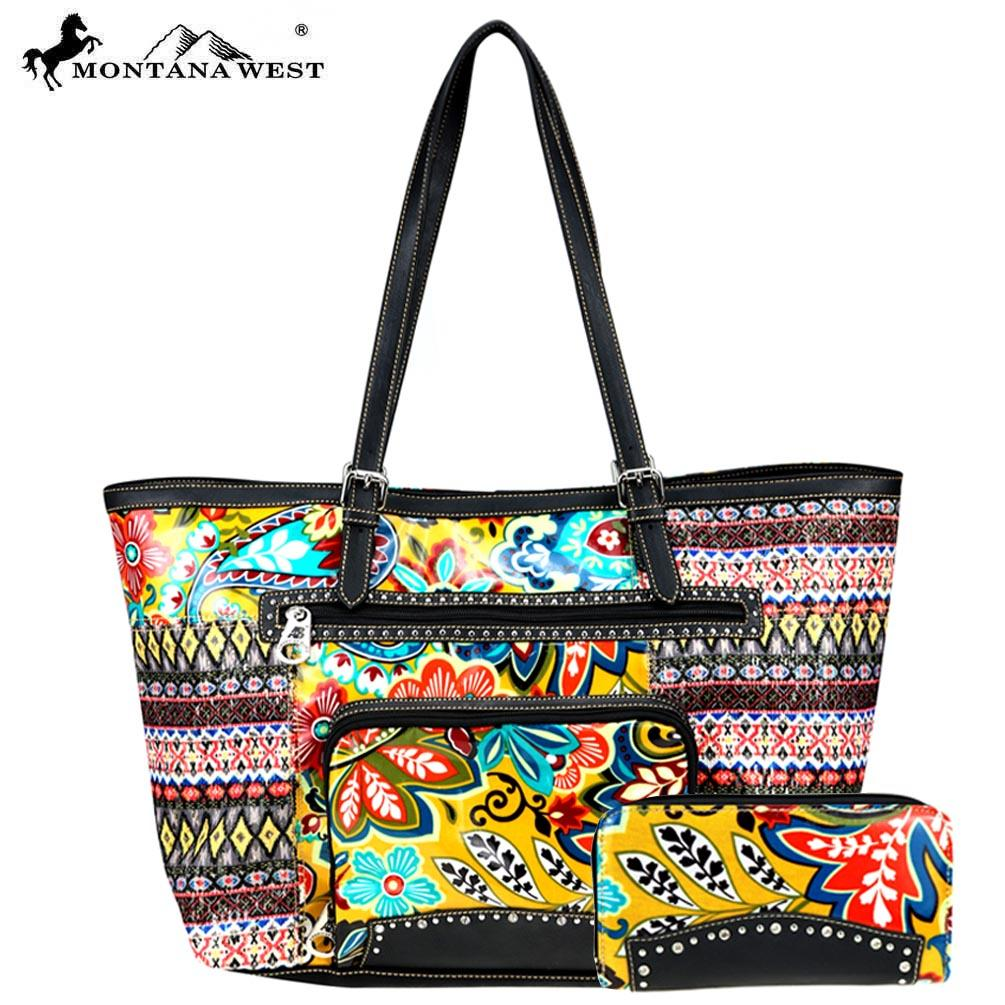 American Bling Floral Tote and Wallet Set