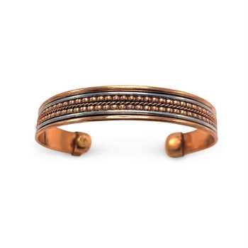 Copper Flexible Bracelet With Magnets