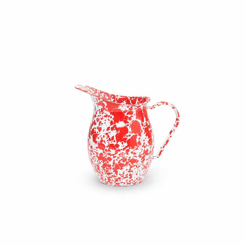 Small Pitcher Red and White