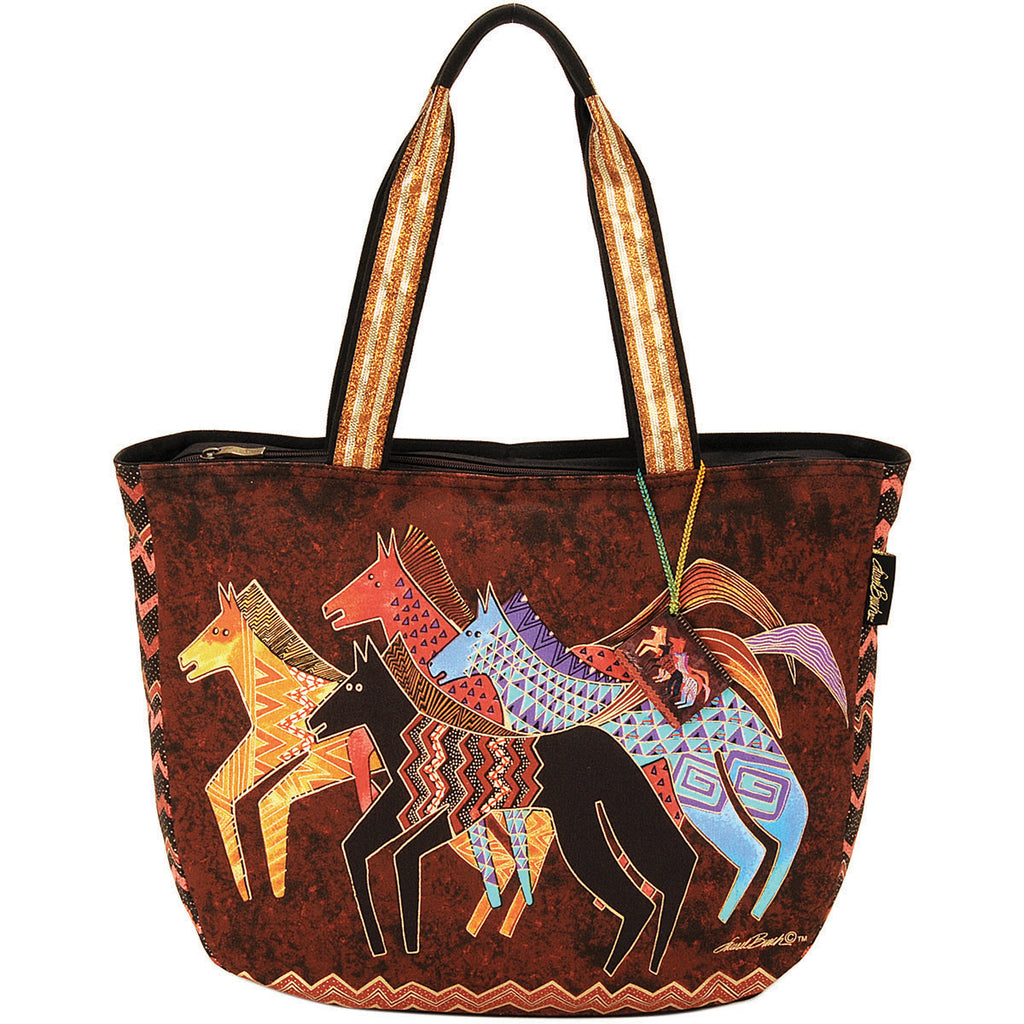 Native Horses Shoulder Tote