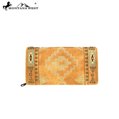 Montana West Aztec Collection Secretary Style Wallet