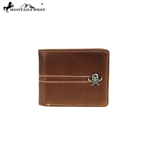 Genuine Leather Skull Men's Wallet