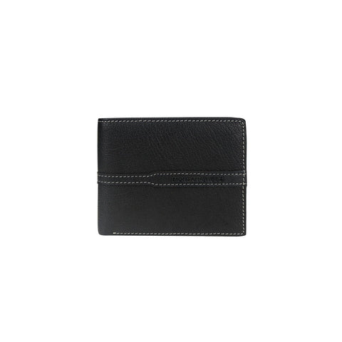 Genuine Leather Men's Wallet - Black