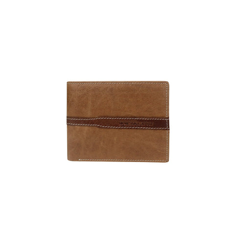 Genuine Leather Men's Wallet - Brown/Coffee