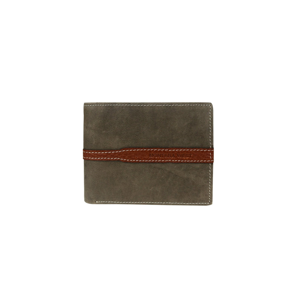 Genuine Leather Men's Wallet- Coffee