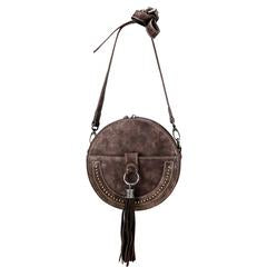 Montana West Western Collection Mini Bag - Minimalist Circle Bag- Coffee