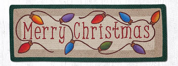 Merry Christmas Oblong Patch Table Accent