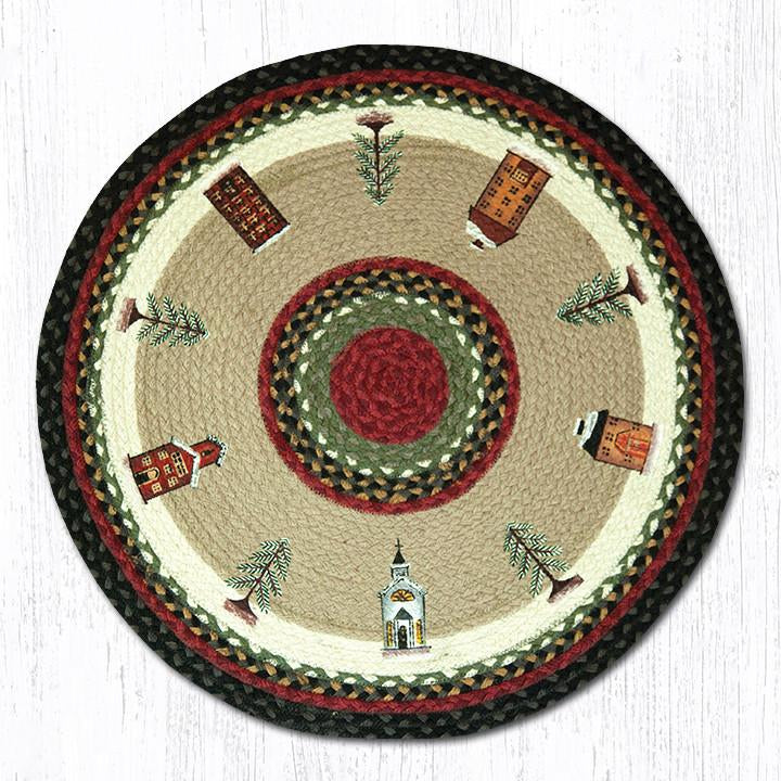 Winter Village Round Patch Rug