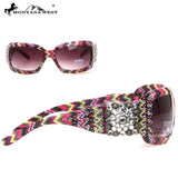 Montana West Spiritual Concho with Aztec Print Sunglasses