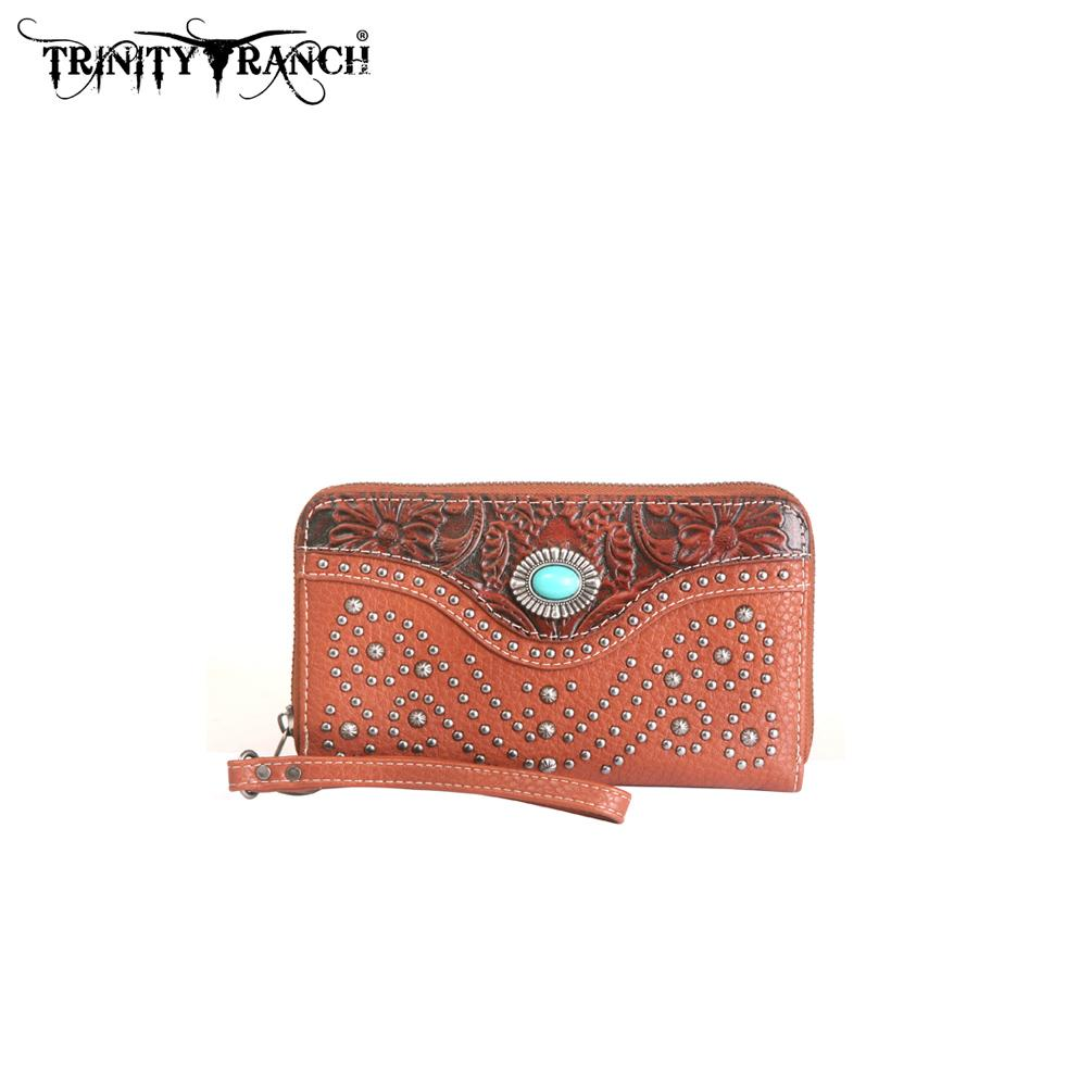 Trinity Ranch Tooled Design Wallet