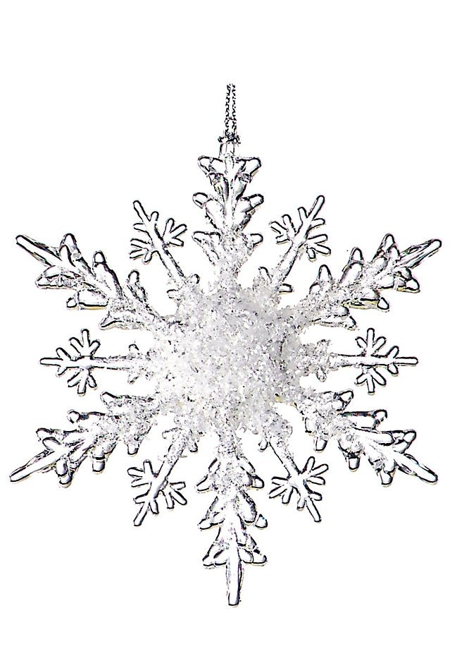 Iced Snowflake Ornament