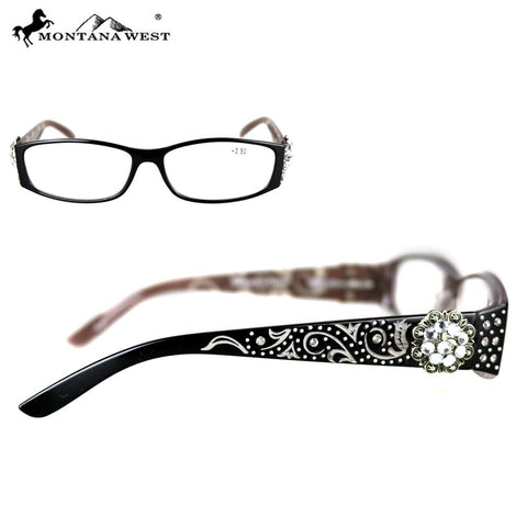 Silver Floral Concho Reading Glasses