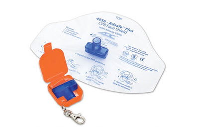 Amerian Diagnostic Corporation ADC Adsafe™ Plus 4056 Orange Face Shield with 1 Way Valve