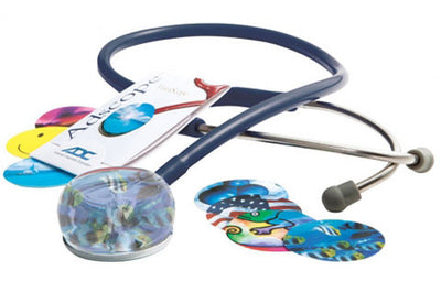 American Diagnostic Corporation ADC 655 Series Vistascope™ Navy Acrylic Clinician Stethoscope