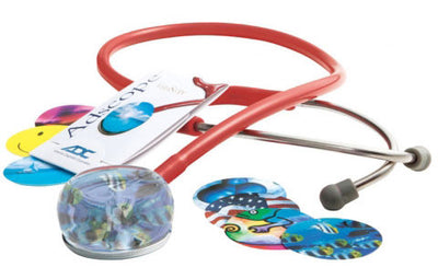 American Diagnostic Corporation ADC 655 Series Vistascope™ Red Acrylic Clinician Stethoscope