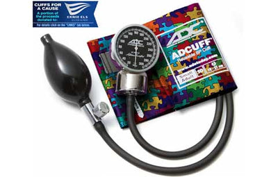Small Adult (19-27cm) Puzzle Pieces Pocket Aneroid Sphygmomanometer by American Diagnostic ADC