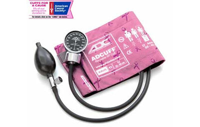 Adult (23-40cm) Breast Cancer Awareness Pocket Aneroid Sphygmomanometer by American Diagnostic ADC