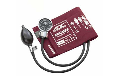 700 Adult (23-40 cm) Burgandy Pocket Aneroid Sphygmomanometer by American Diagnostic ADC