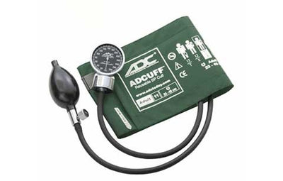 700 Adult (23-40 cm) Dark Green Pocket Aneroid Sphygmomanometer by American Diagnostic ADC