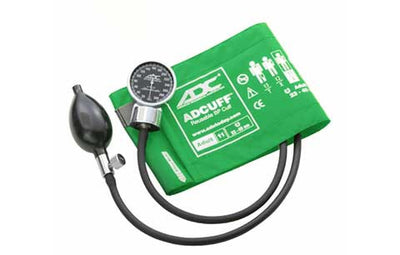 700 Adult (23-40 cm) Green Pocket Aneroid Sphygmomanometer by American Diagnostic ADC
