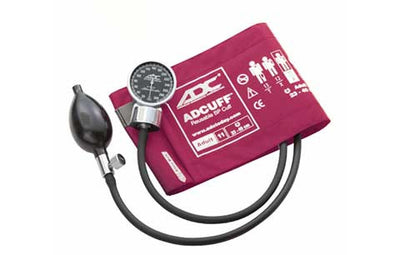 Adult (23-40cm) Magenta Pocket Aneroid Sphygmomanometer by American Diagnostic ADC