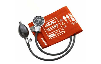 Adult (23-40cm) Orange Pocket Aneroid Sphygmomanometer by American Diagnostic ADC