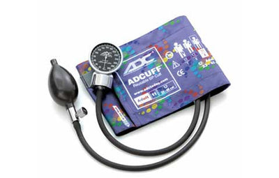 Adult (23-40cm) Peter's Blue Swirly Pocket Aneroid Sphygmomanometer by American Diagnostic ADC