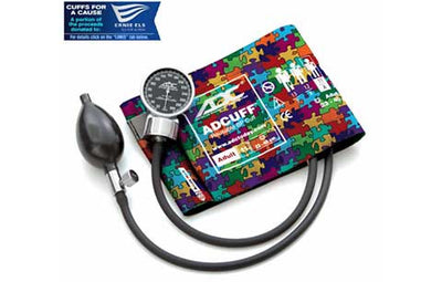 Adult (23-40cm) Puzzle Pieces Pocket Aneroid Sphygmomanometer by American Diagnostic ADC