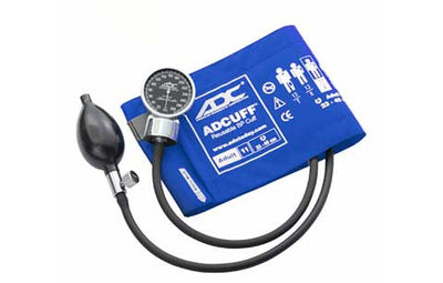 700 Adult (23-40 cm) Royal Blue Pocket Aneroid Sphygmomanometer by American Diagnostic ADC